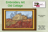 P162-Embroidery Art Old Cottage 260 x 160