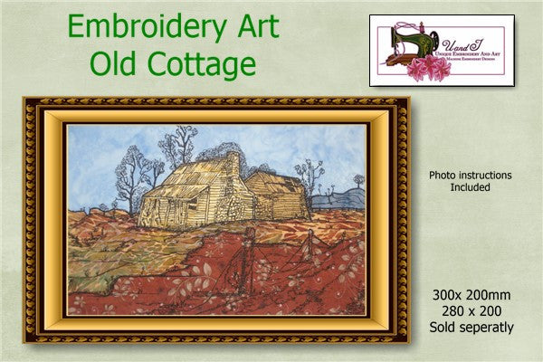 P163-Embroidery Art Old Cottage 280 X 200