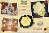 P142_FSL Coaster or doily 4, 5 and 6 inch included