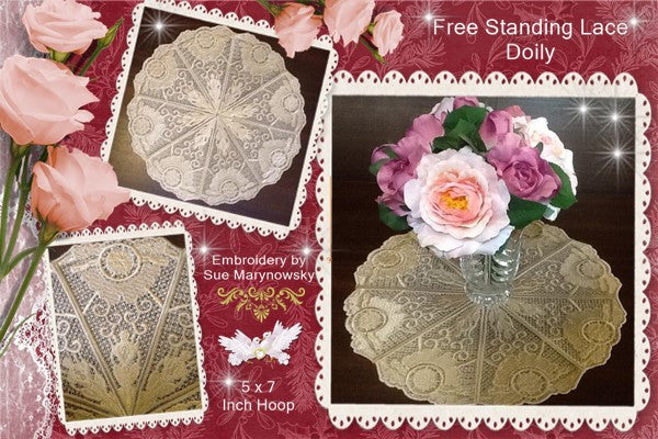 P063_Free Standing Lace Doily No 1