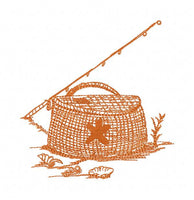 S049-Fishing box for the 5 x 7 inch hoop (130 x 180mm)