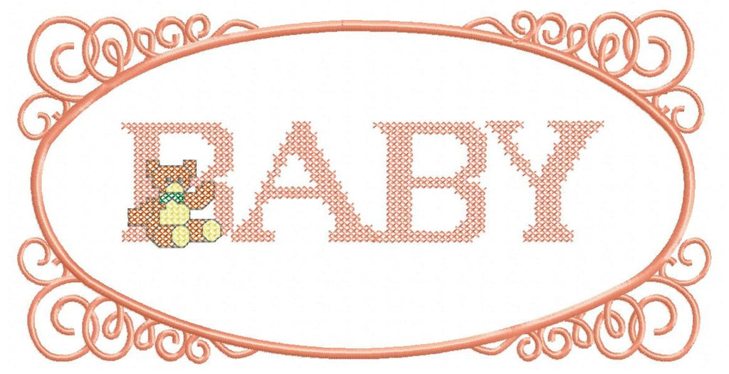B001-FRAMED BABY  FOR THE 177 X 355 HOOP