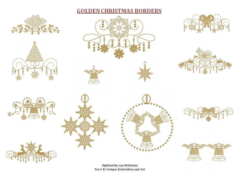 UIU062-Golden Christmas Borders