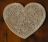 P073-Valentine or Wedding Lace heart No 1