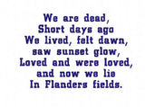 UIU103-IN FLANDERS FIELDS POEM PROJECT