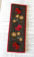 P015-IN THE HOOP Felt Lady bug Book Mark