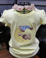 P035-ITH Bear Slider and T shirt Design, Matching set
