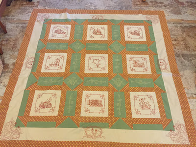 UIU129-Barbedwire and Thistle Quilt top