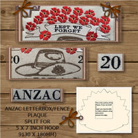 P192- Designs from the Anzac plaque split 5 x 7 inch (130 x 180mm)