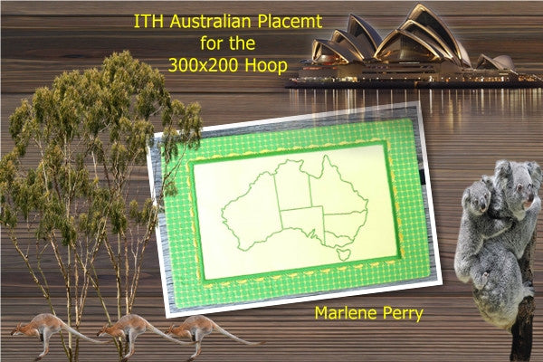 P090_ITH Travel Australia Table Mat 300x200mm Hoop