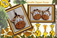 P078-ITH Giraffe Zipper purse