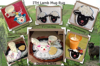 P077-In the hoop Lamb Mug Rug