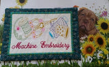P129_ITH Machine Embroidery Table Mat Hoop