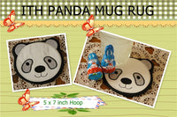 P087-In the hoop Panda Mug Rug