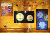 P145_ITH Wine mugrug 5 and 6 inches