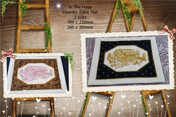 P178-ITH Country Table mat  2 sizes Included