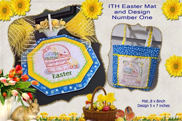 P149-ITH Easter mat and Design No 1
