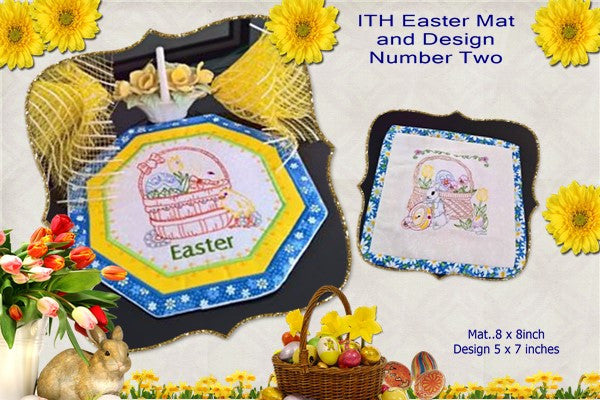 P152-ITH Easter Mat and Design No 2