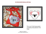 P028-In The Hoop Koala Zip Bag 200 x 200 mm ( 8 x 8 inch)  Hoop