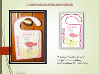 P027-In the hoop Baby sleeping door hanger