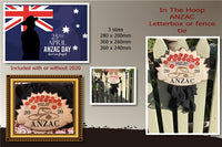 P190-ANZAC fence/Letterbox plaque 3 sizes