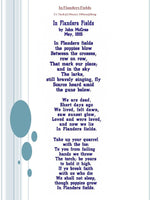 P022-IN FLANDERS FIELDS POEM For the 5 x 7 inch (180 x 130mm) hoop