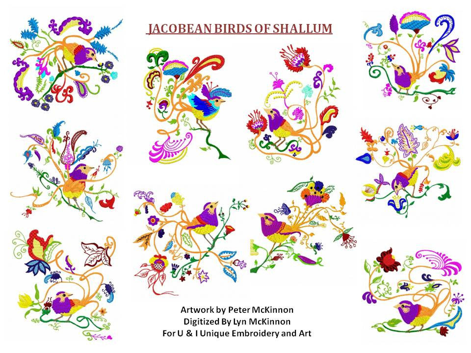UIU049-Jacobean Birds of Shalum