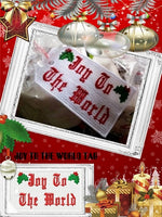 P051_Joy To The World Christmas Tag 5 x 7 inch