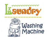 S058-LAUNDRY FOR THE 5 X 7 INCH HOOP