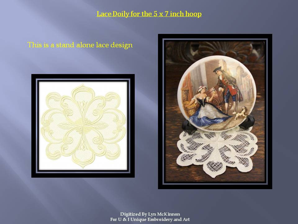 LD007-Lace Doily One Large
