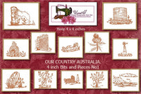 UIU002 Our Country Australia. 4 inch bits and pieces No 1