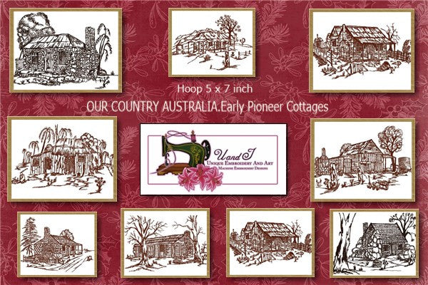UIU017_OUR COUNTRY AUSTRALIA....Early Pioneer Cottages