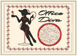 P064-In the hoop Office Diva Mug Rug