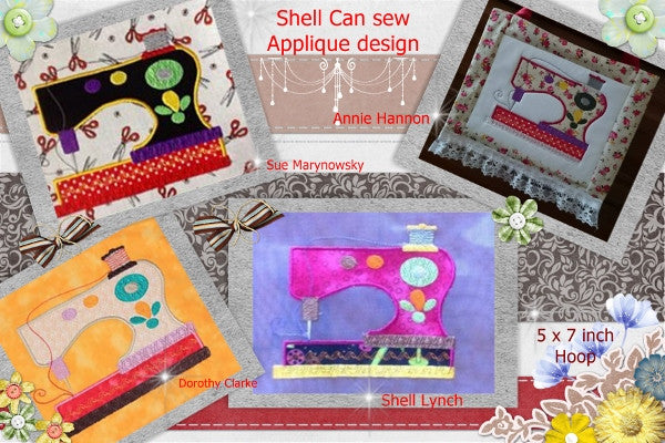 S088-Shell can sew applique sewing machine