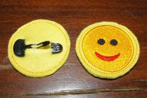 P031-In the Hoop  smile hair sliders for a headband or hair clips 4 x 4 inch hoop