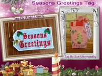 S077- Seasons Greeting Christmas Tag
