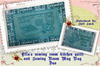 P067-ITH Ella's Sewing Room Kitchen quilt and Mug rug Duo