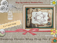 P053-In The Hoop Sewing room Mug Rug  No 2