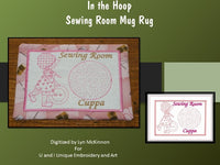 P046-In The Hoop Sewing Room Mug Rug