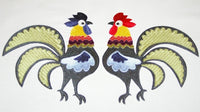 LD019-Jacobean Twin Roosters for the 200 x 300mm Hoop