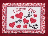 P060-In the hoop Valentine Mug Rug