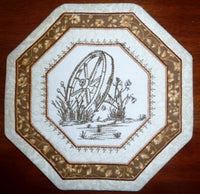 P057-In The Hoop Wagon Wheel Kitchen Quilt
