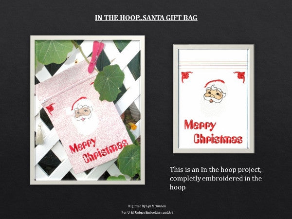P029_IN THE HOOP SANTA GIFT BAG for the 200 x 300mm hoop