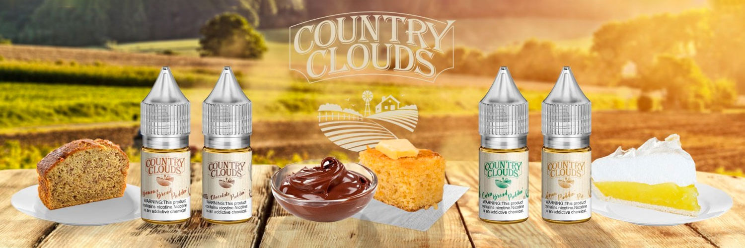 Country Clouds Nicotine Salt eLiquids are New!