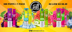 Puff Stix Disposable eCig, Disposable Vape on eJuiceDB