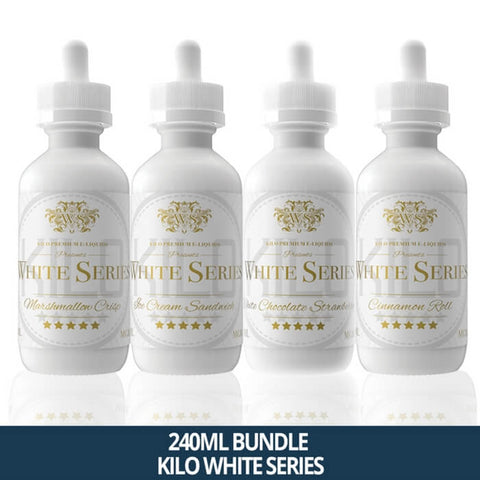 240ml Bundle by Kilo E-Liquids White Series #1