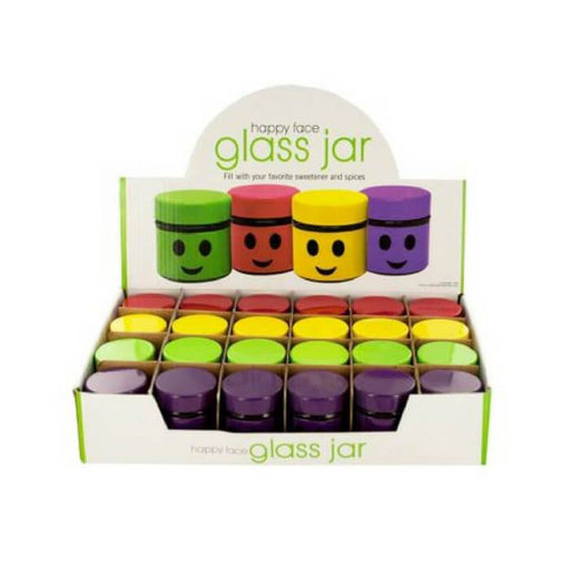 Happy Face Glass Jars #1