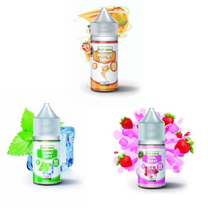 90ml Bundle by Pod Juice Nicotine Salt E-Liquid #1