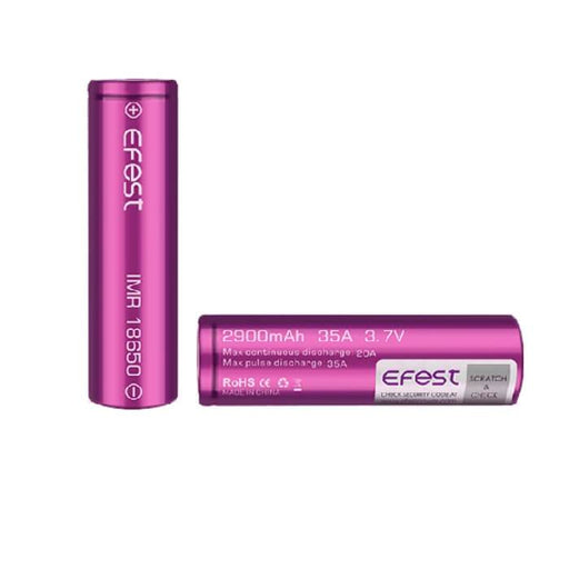 Efest IMR 18650 2900mAh 35A Battery (2-Pack)