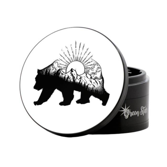 Green Star Mountain Bear Herbal Jumbo Size Grinder